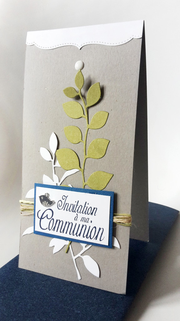 Carte invitation communion Zibuline Daniella