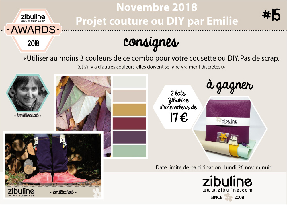 Vous avez jusqu au 26 novembre 2018 minuit pour poster une photo de votre  création sur le groupe Facebook dédié aux Zibuline Awards ou pour envoyer  un mail ... c73a59d4618
