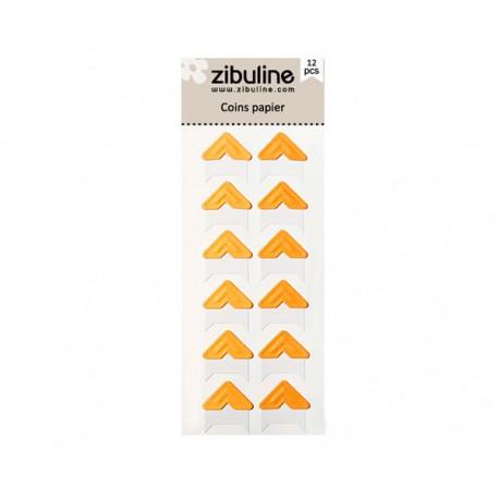 Coins papier - Orange