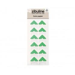 Coins papier - Vert