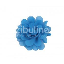 Fleur chiffon - Bleu