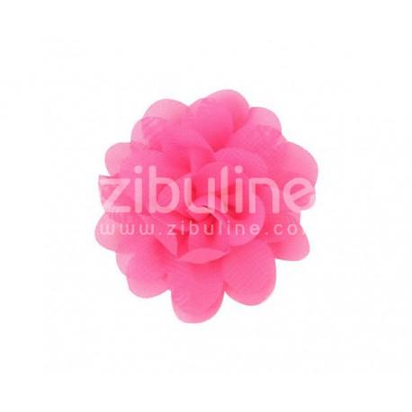 Fleur chiffon - Fushia