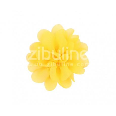 Fleur chiffon - Jaune