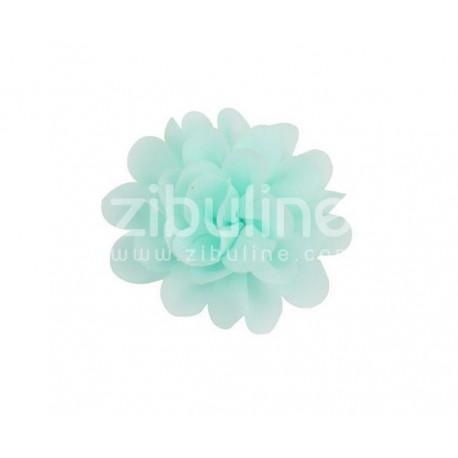 Fleur chiffon - Vert d'eau