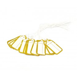 Etiquettes bijoutier - Rectangle doré