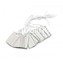 Etiquettes bijoutier - Rectangle argenté