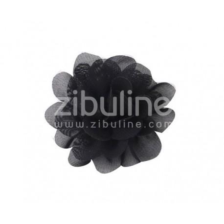 Fleur chiffon - Noir