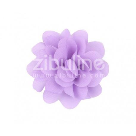 Fleur chiffon - Parme