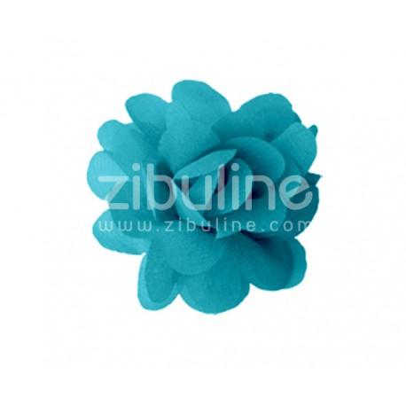 Fleur chiffon - Pétrole