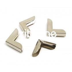 Coins métal - Simples larges argentés