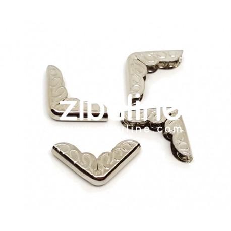 Coins métal - Gravés argentés