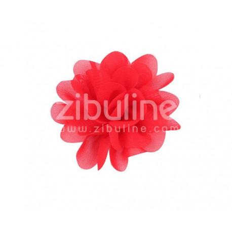 Fleur chiffon - Rouge