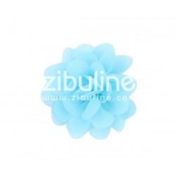 Fleur chiffon - Bleu clair