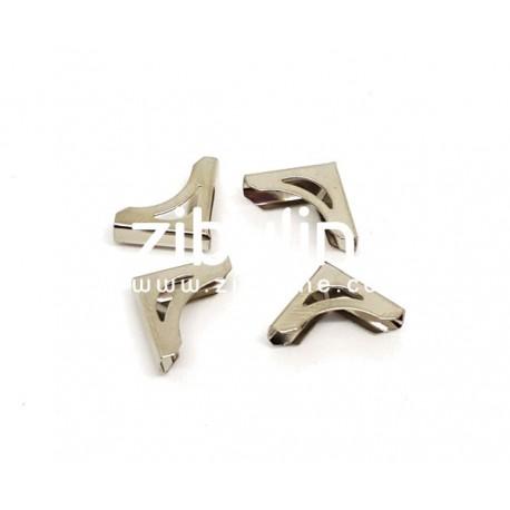 Coins métal - Mini ajourés argentés