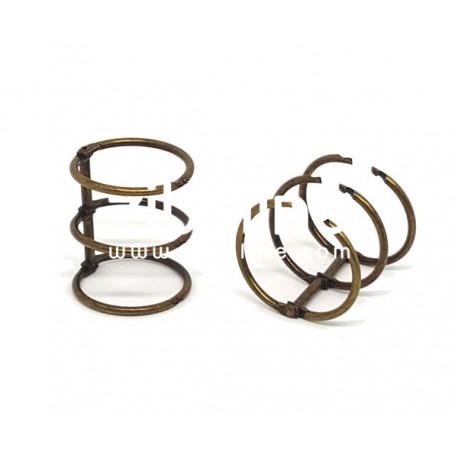 Reliure 3 anneaux - 3 cm bronze