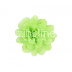 Fleur chiffon - Vert