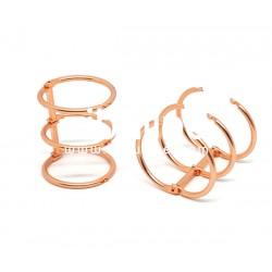 Reliure 3 anneaux - 3 cm cuivré