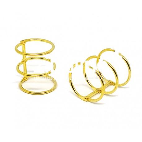 Reliure 3 anneaux - 3 cm doré