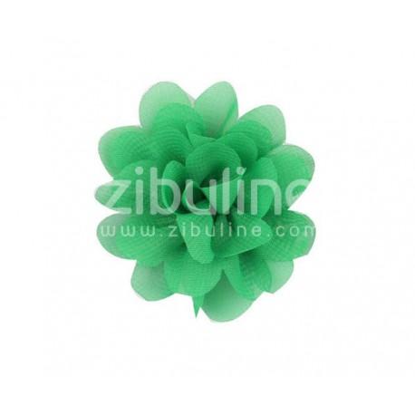 Fleur chiffon - Vert foncé