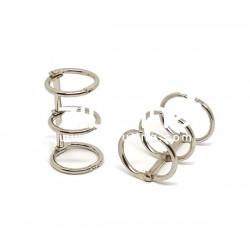 Reliure 3 anneaux - 2 cm argenté