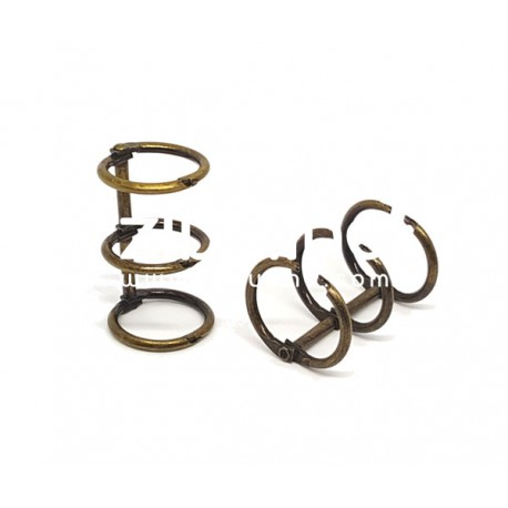 Reliure 3 anneaux - 2 cm bronze
