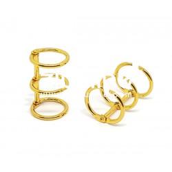 Reliure 3 anneaux - 2 cm doré