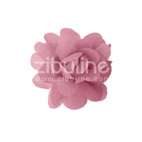 Fleur chiffon - Vieux rose