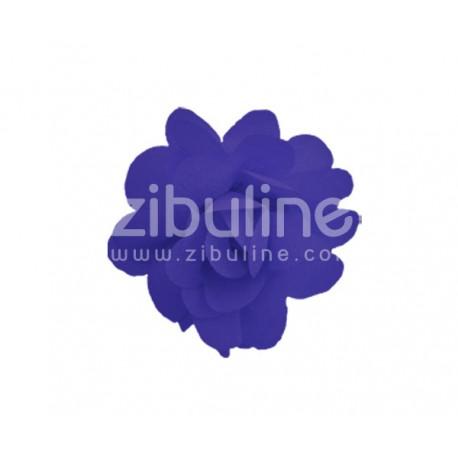 Fleur chiffon - Violet foncé