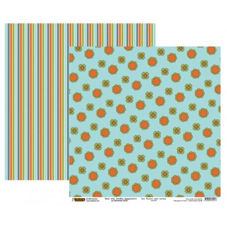 Papier 30x30 - Les fleurs sont vertes