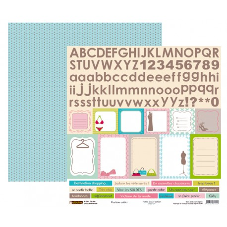 Papier 30x30 - Fashion addict / Petits plus