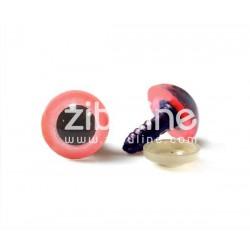 Yeux de sécurité - 12 mm noir et rose