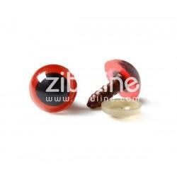 Yeux de sécurité - 12 mm noir et rouge
