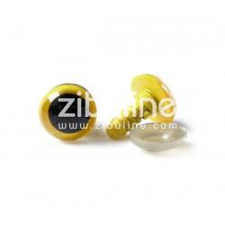 Yeux de sécurité - 12 mm noir et jaune