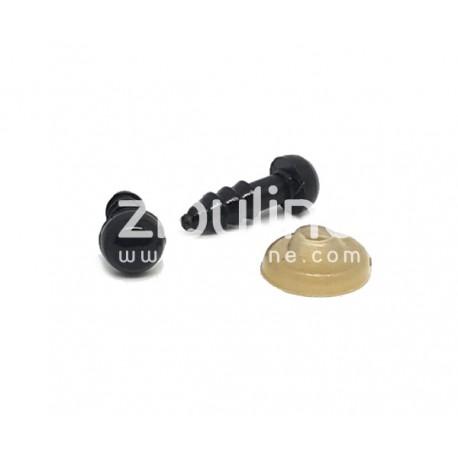 Yeux de sécurité - 6 mm noir