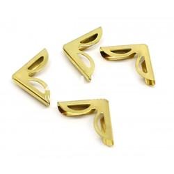 Coins métal - Ajourés arrondis dorés