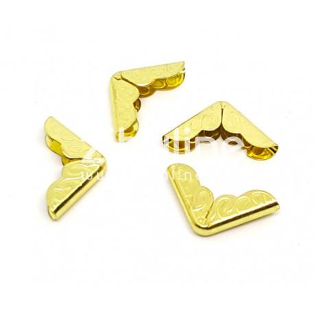 Coins métal - Gravés dorés