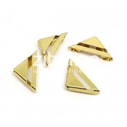 """Coins métal - """"barre ajourée"""" dorés"""