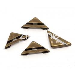 """Coins métal - """"barre ajourée"""" bronze"""