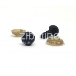 Yeux de sécurité - 8 mm noir