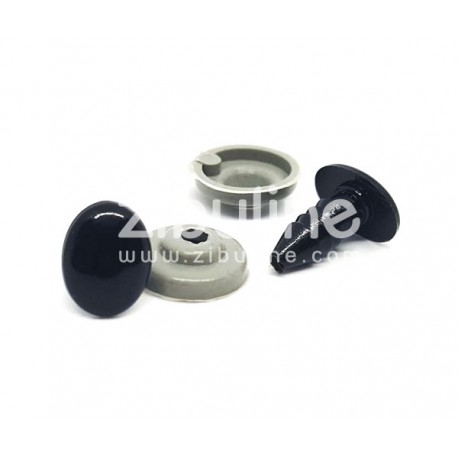 Yeux de sécurité - Oval noir 7x10 mm