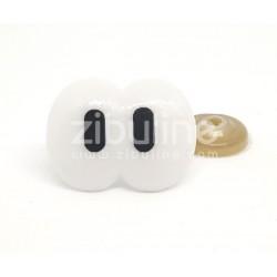 Yeux de sécurité - Doubles blanc pupilles noires 19x25 mm