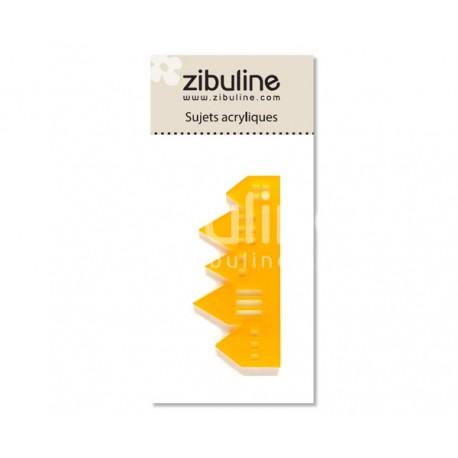 Sujets acryliques - Maisons mitoyennes jaune
