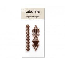Sujets acryliques - Triangles enchaînés marron