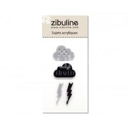 Sujets acryliques - Nuages gris / noir