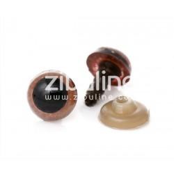 Yeux de sécurité - 10 mm noir et marron