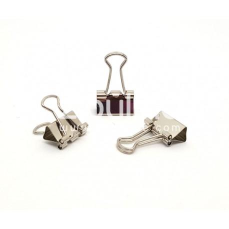 Clip métal plein - 15 mm Argenté