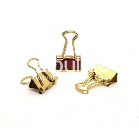 Clip métal plein - 15 mm Doré