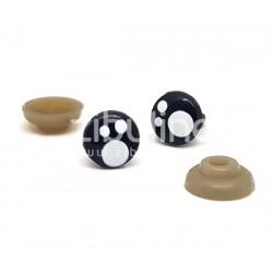 Yeux de sécurité - Rond noir tâché 8 mm