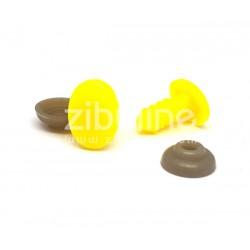 Yeux de sécurité - Oval jaune 8x11 mm