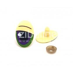 Yeux de sécurité - Oval écru/violet/vert 20x30 mm